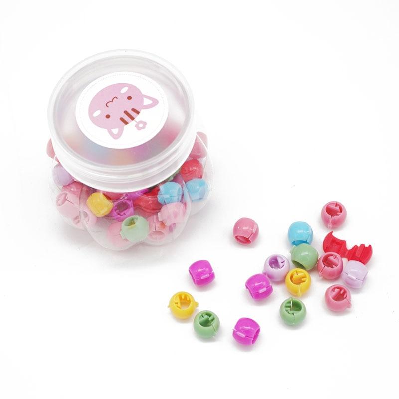 100 PCS Mini Hair Claw Clips For Women Girls Cute Candy Colors Beads Headwea lq
