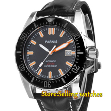 43mm Parnis Sapphire Glass Waterproof 20ATM Ceramic Bezel Men Watch