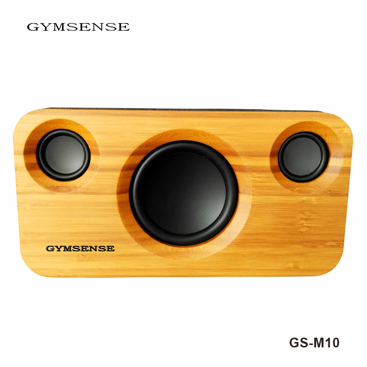GYMSENSE Bamboo Bluetooth Speaker Wooden stereo Speaker bluetooth audio system Bookshelf Bass Subwoofer Wireless Speakers