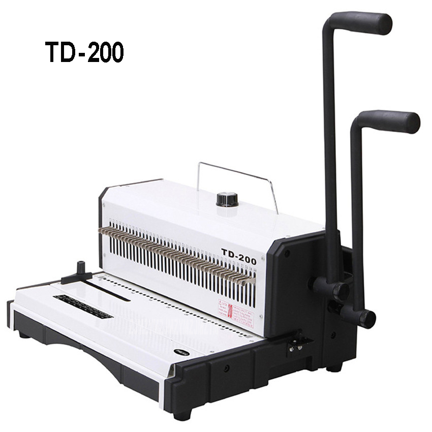 TD 200 2 Handle Manual Spiral Wire Binding Machine Square