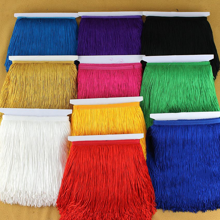 10Yard/Lot 31color  Lace Trim Polyester Tassel Fringe Trimming For Diy Latin Dress Stage Clothes Accessories 15CM RS603