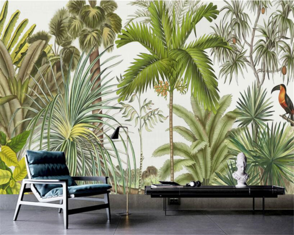 beibehang Custom 3D Mural Wallpaper Southeast Asia European retro tropical rain forest Photo Background Wall Modern 3D Wallpaper free shipping custom 3d mural retro european buildings in paris coffee hall the television background wall wallpaper