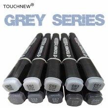 TouchNEW, крутые серые цвета, художественные маркеры, серого цвета, перманентные маркеры для художника, маркер для рисования, школьные принадлежности для студентов