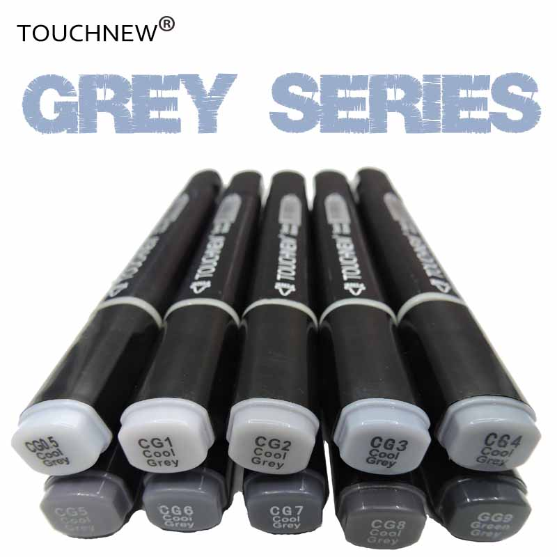 TouchNEW Cool Grey Colors Art Markers Grayscale Artist Permanent Markers For Brush Pen Painting Marker School Student Supplies