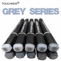 Touchnew Cool Grey Kleuren Art Markers Grijstinten Kunstenaar Permanente Markers Voor Brush Pen Schilderen Marker School Student Leveringen