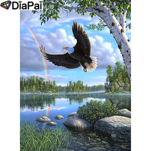 DIAPAI Diamond Painting 5D DIY 100% Full Square/Round Drill Eagle scenery Embroidery Cross Stitch 3D Decor A24657