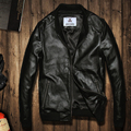 2016 autumn cow leather jacket mens slim leather jacket leather clothing casual short cowhide leather coat