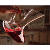 Unique Elegant Crystal Glass Wine Decanter Red Wine Carafe Aerator With Handle Container Dispenser Wine Aerator