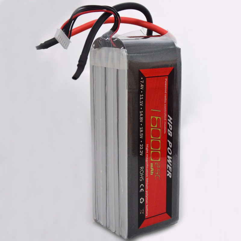 2015 New Arrivel HPB 22.2V 25C 16000mAh High Density Capacity High-current Lipo Battery For Flying Multimotor Mahines new original copper high current 6000vac 0 06uf high frequency resonant capacitor 80k 80a