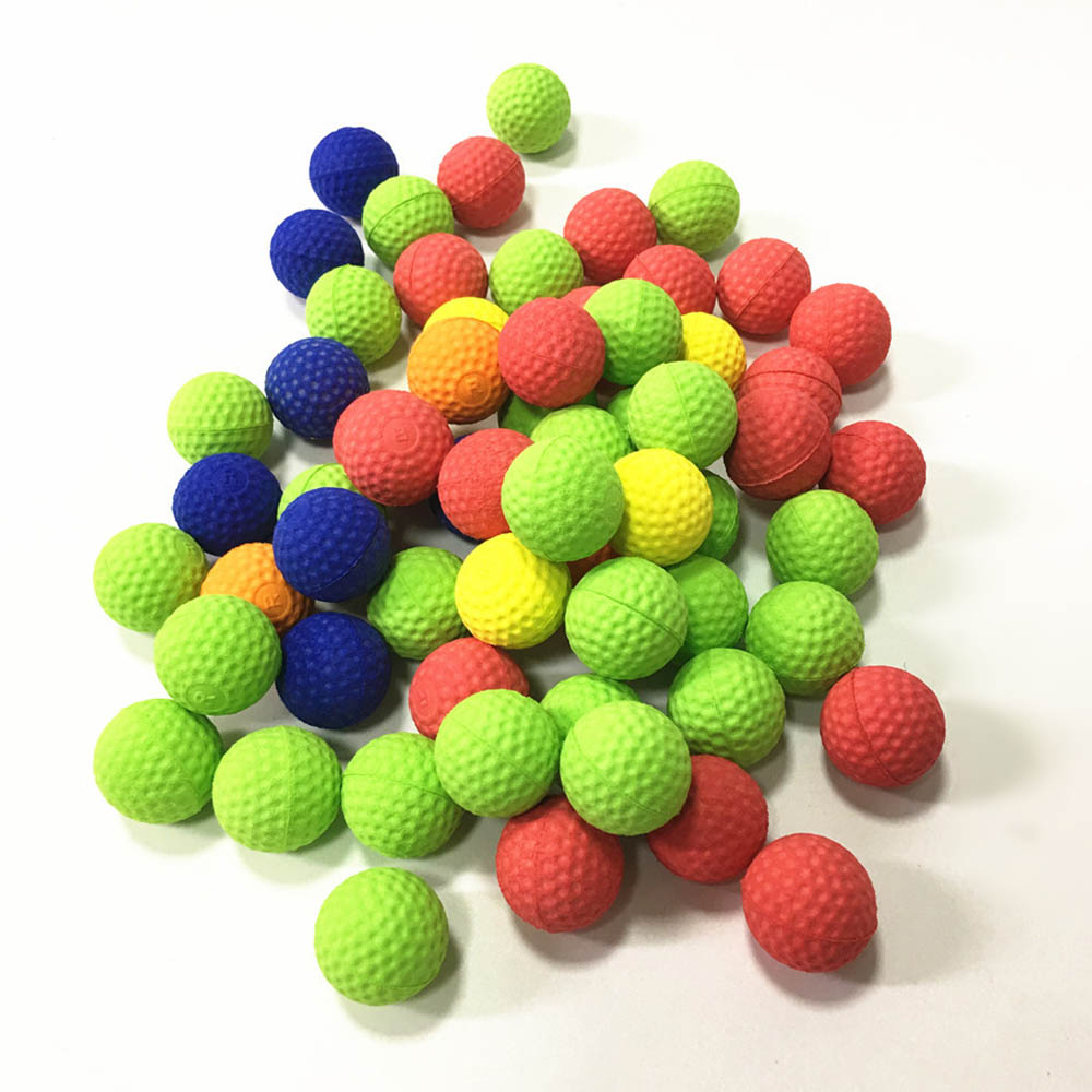 Colored And Yellow Bullet Ball 100pcs Balls For Zeus Apollo Refill Toys 2.2cm EVA Ball Soft Bullet Electric Manual Universal Toy