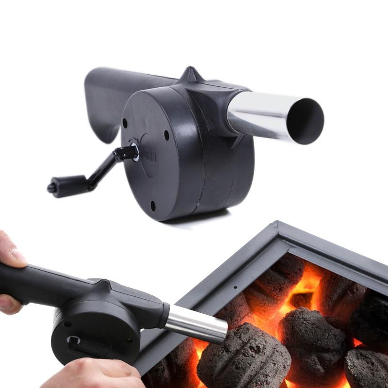 LMETJMA Hand BBQ Fan Outdoor BBQ Fan Air Blower For Barbecue Picnic Manual Grill BBQ Fan Fire Bellows BBQ Tools KC0266