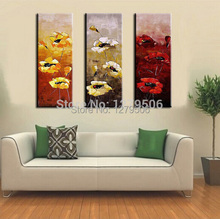Hand Painted Abstract Oil Paintings On Canvas Hang Picture Daisy For Living Room Wall Decor