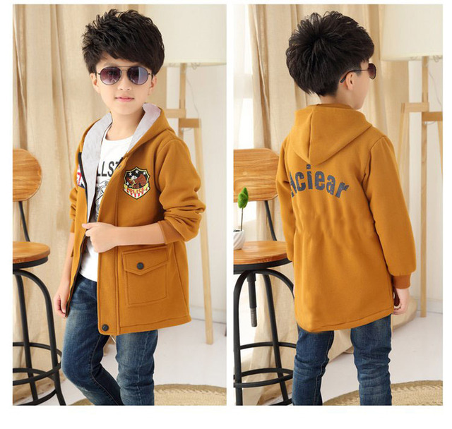 8e2ee9dc23e5 4 12Y Children s Clothing Boys Winter Child Outerwear Woolen ...