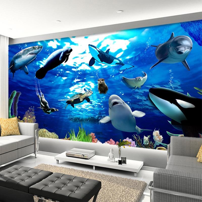 Aquarium 3D Wall Murals