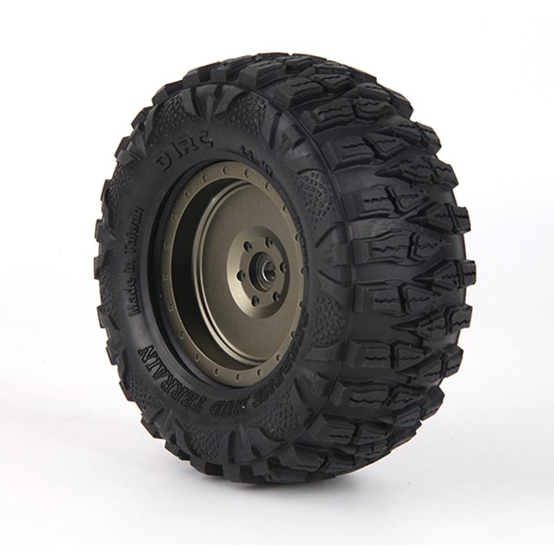 4 piezas D1RC agarre Super 2,2 pulgadas neumáticos 120mm neumáticos para escala de 1/10 Axial, 90018, 90048, 90045, 90031 TRX4 d90-in Partes y accesorios from Juguetes y pasatiempos    1