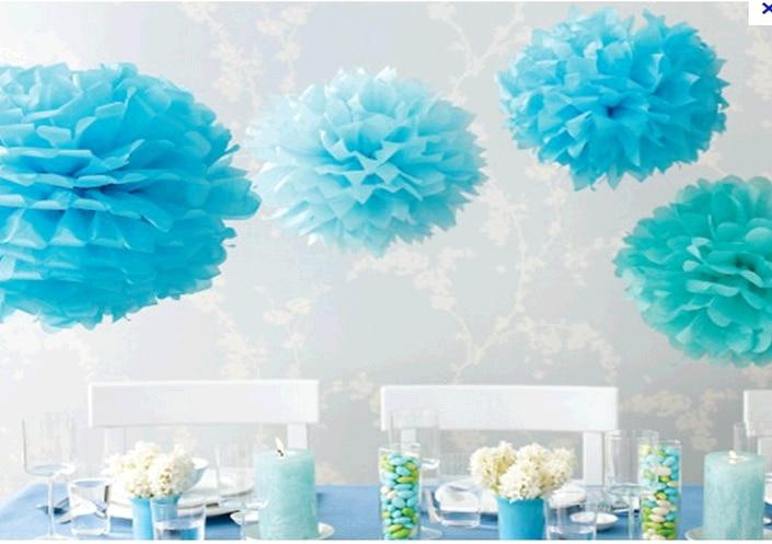 "Birthday Wall Decorations online shop 6"" 15cm 200 pcs/lot tissue paper pom poms decorative"