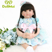Bebes reborn 24/60 cm DollMai Silicone Reborn Baby dolls real Toddler vinyl Princess Girl babyDoll Toys gift oyuncak bebek