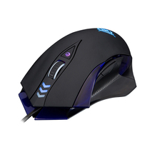 MG4 Wired Gaming Mouse LOL Electronic Glowing 7 Keys Macro Definition Computer Gamer 4000DPI