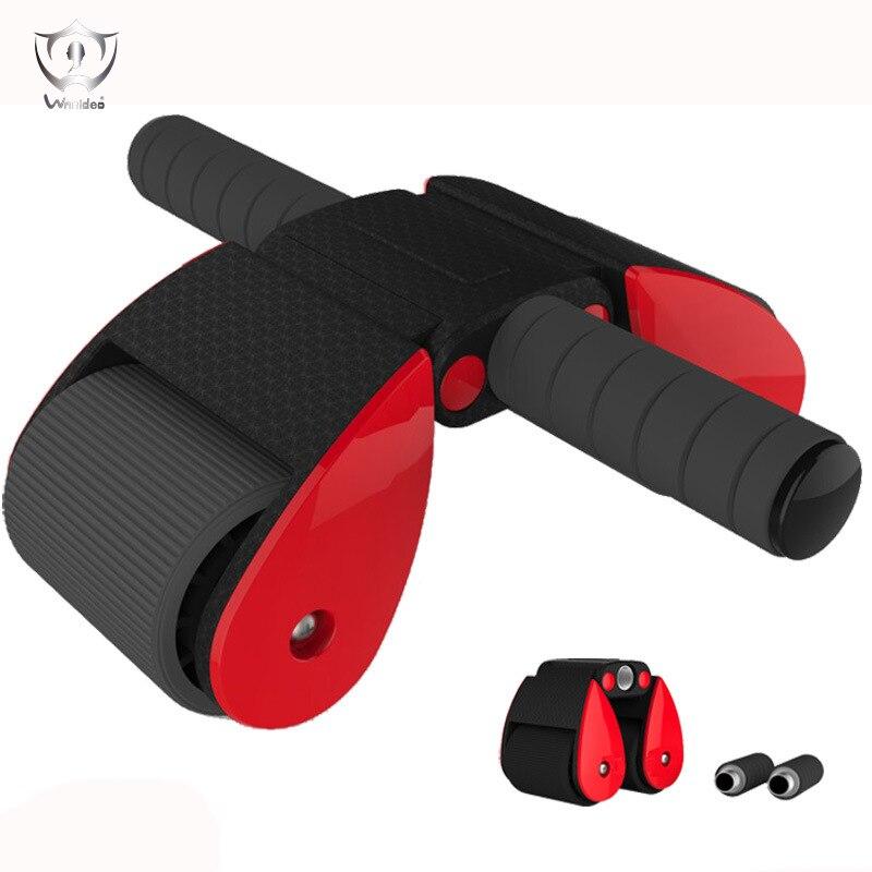Abdominal Wheel Double Row Folding Abdominal Muscle Wheel Two Wheel Exercise Abdominal Muscle Body-building Equipment ZH