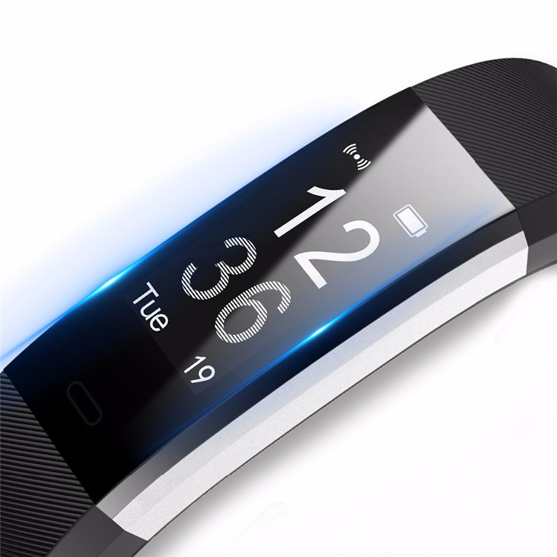 Smart Wristband Men Fitness Tracker Heart Rate Monitor Simple Sleeping Monitor OLED Screen Silicone Band Women