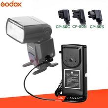 Godox CP 80 الخارجية فلاش بطارية حزمة لكانون 550EX 580 ex II نيكون SB800 SB900 سوني HVL F60M Speedlite فلاش شاحن سريع