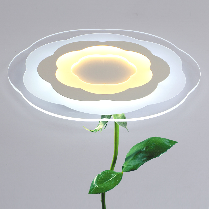ФОТО Modern Acrylic Flower Remote Control LED Ceiling Lights for Living Room Bedroom Led Dimming Ceiling Lamp Fixture luminaria teto