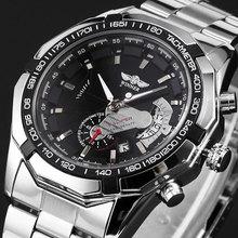 Gagnant 2016 lumineuse horloge hommes Montre automatique Skeleton militaire Montre mécanique Relogio Homme Montre Homme Montre Mens Relojes