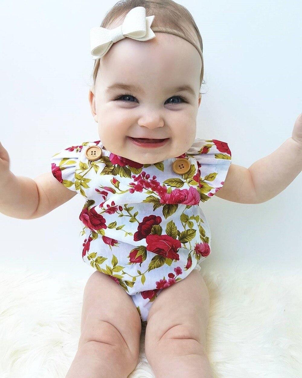 Цветы летняя одежда для девочек с лямкой на шее в виде листка лотоса + Джерси группы оголовье Детская одежда костюм 0-24 м
