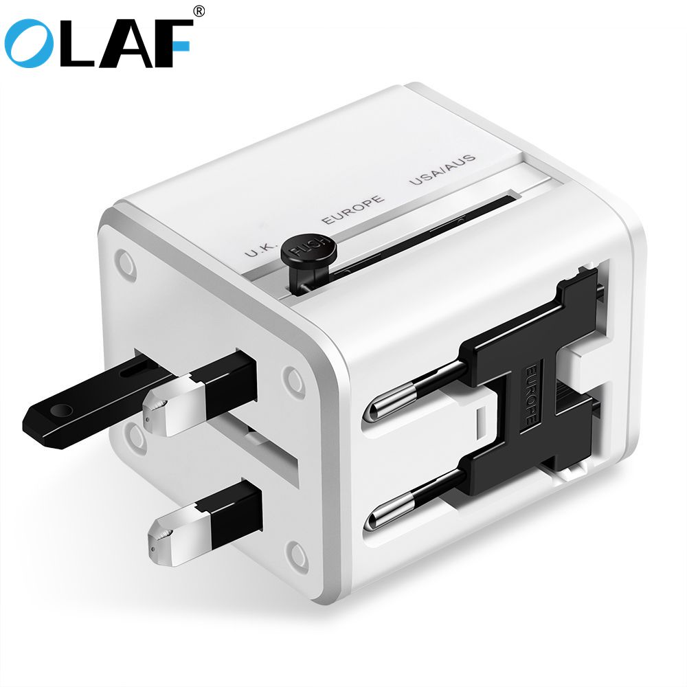 Travel Adapter US EU UK AU Plugs 4 IN 1 usb charger 2 Ports Charger Universal Wall Converter charging For iPhone x 7 Samsung S8
