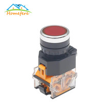 22 Mm Sesaat Eectrical Push Button Switch Hijau/Merah/Hitam/Kuning/Biru 1NO 1NC 3 Pin sekrup Terminal LA38-11BN(China)