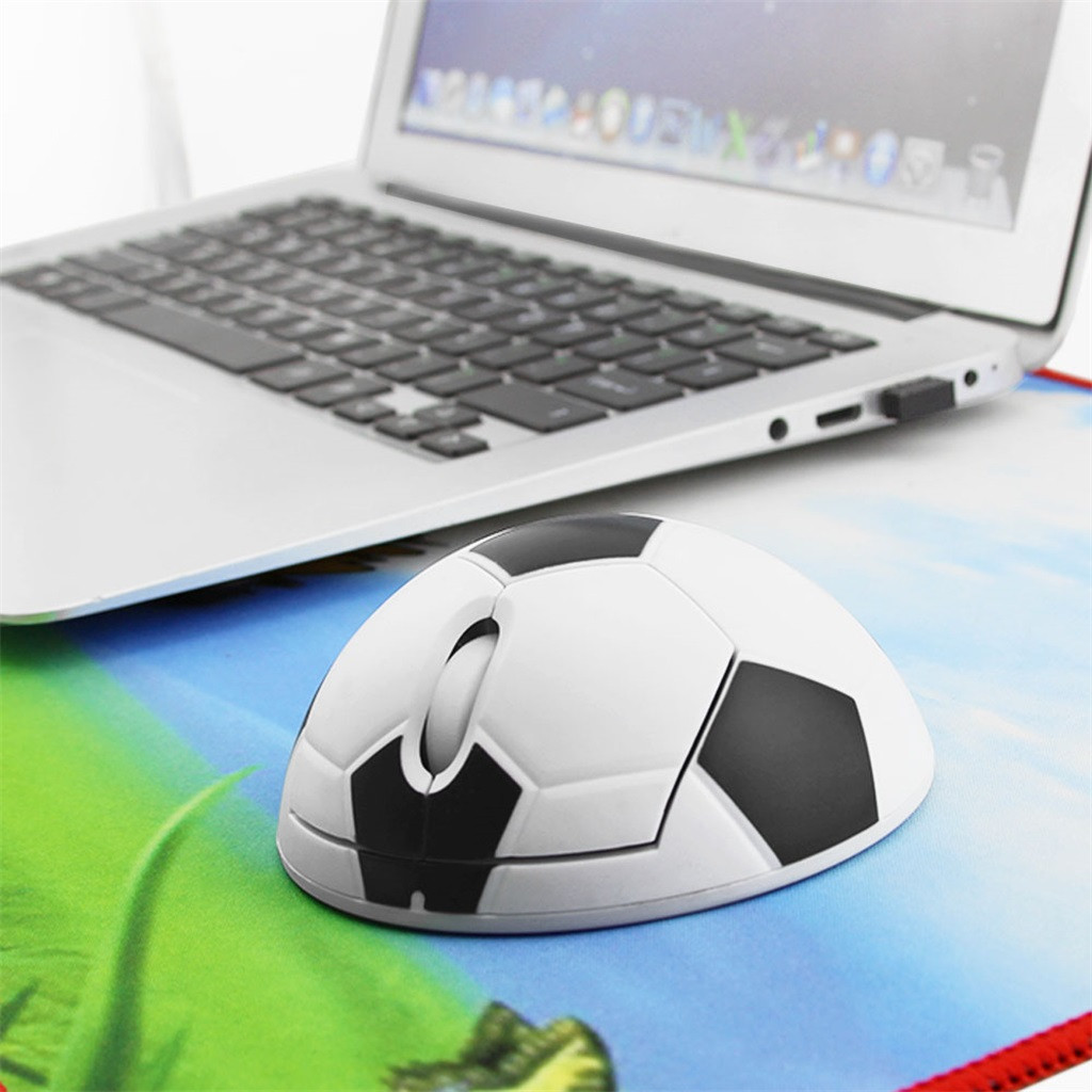 Wireless Soccer Mouse 2.4G Ergonomic 3D Optical Sports Football Mice For PC Laptop