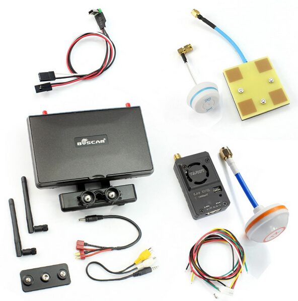 Boscam Galaxy D2 7in FPV Monitor Display 1000wm 600wm 300wm Wireless AV Transmitter System for DIY FPV Racer Drone Quadcopter