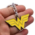 JM 5Pcs/lot Movie Superhero Wonder Woman Keychain for Car Super Heros Alloy Pendant Key Chain Ring Holder Jewelry Chaveiro