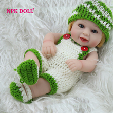 NPKDOLL 10 Inches Full Vinyl Doll Reborn Boy Babies Play House Toys Ac