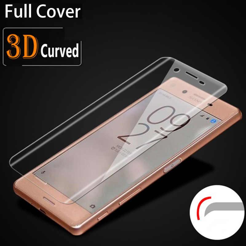 3D изогнутое закаленное стекло для Sony Xperia xa1 XA Ultra, полное покрытие XZ Премиум XZS X Производительность Compact 9 H Защитная пленка для экрана