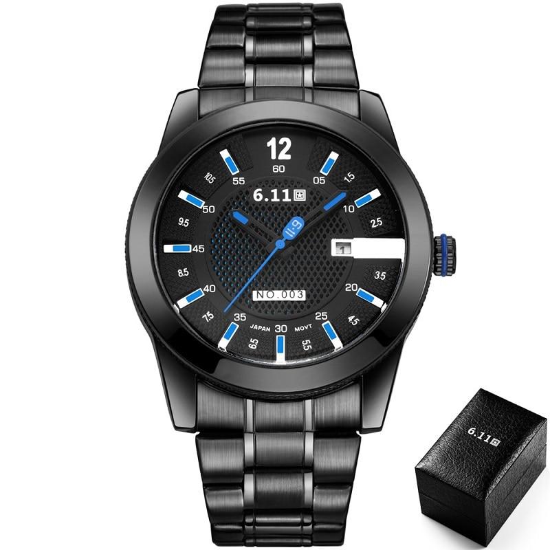 6.11 Mens 2019 Fashion Solar-powered Watch Full Steel Clock Army Military Outdoor Quartz Wrist Watch Casual Sport Watches NO.003