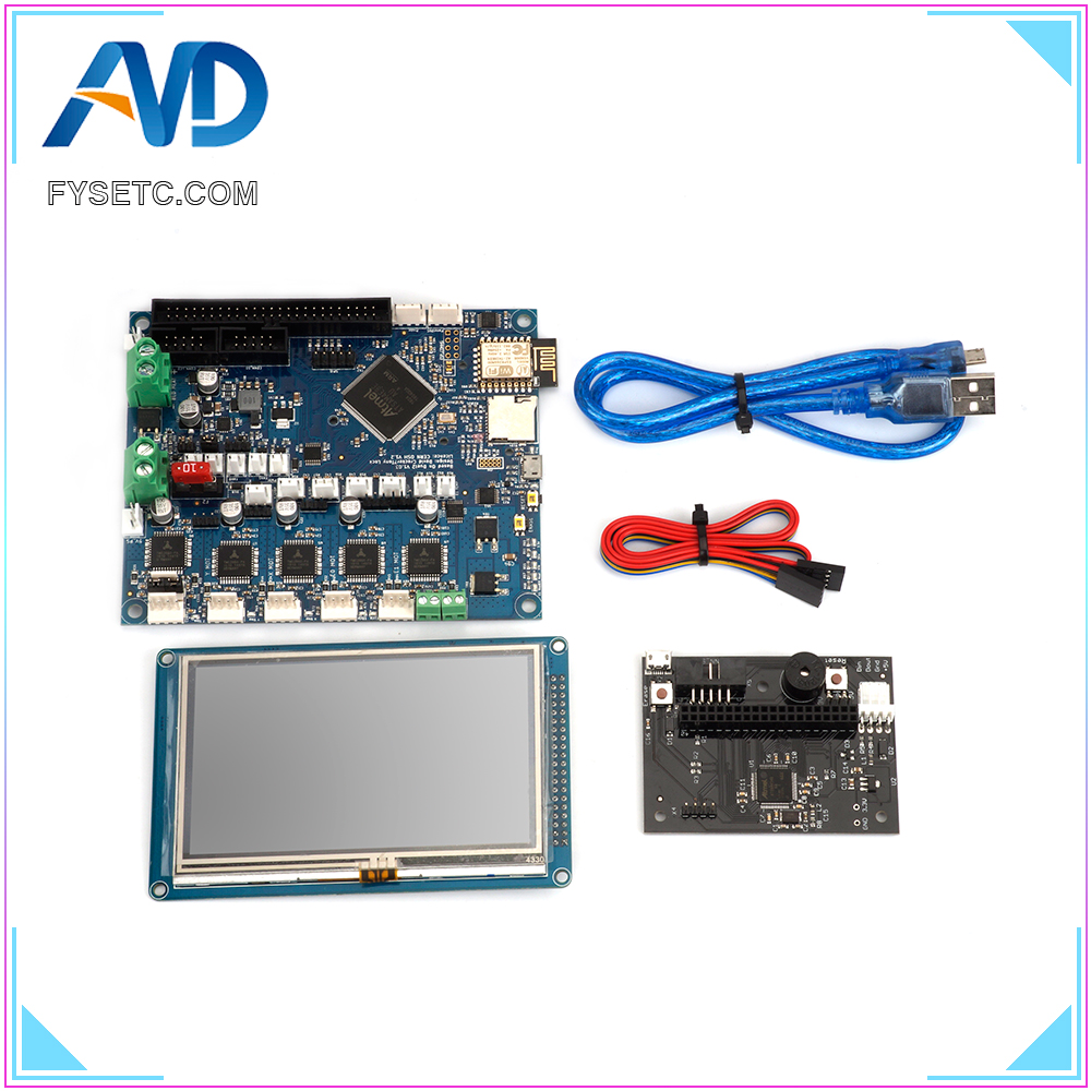 Cloned Duet 2 Wifi V1.03 DuetWifi Advanced 32 Bit Electronics With 4.3 5 7 Colour PanelDue Touch Screen Controller