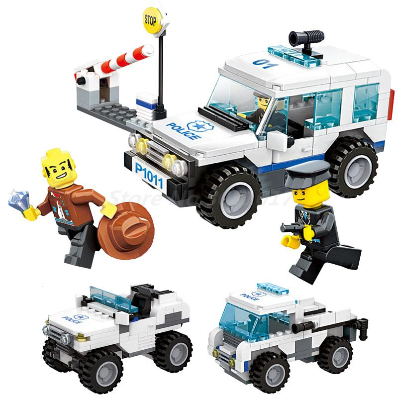 WANGE City Police Force Patrol 3 In 1 Action Model Building Block Kits 217Pcs Bricks Educational Toys For Children Gifts wange city fire emergency truck action model building block sets bricks 567pcs classic educational toys gifts for children