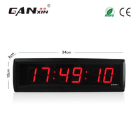 [Ganxin]1.8'' Red Color Led digital clock with Remote Control red wall clock