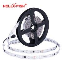 WS2811 IC 5050 IP65 impermeable 5 M 150 LEDs Autorun RGB Full Color LED tira DC12V flexible LED cinta controlador Hola pescado