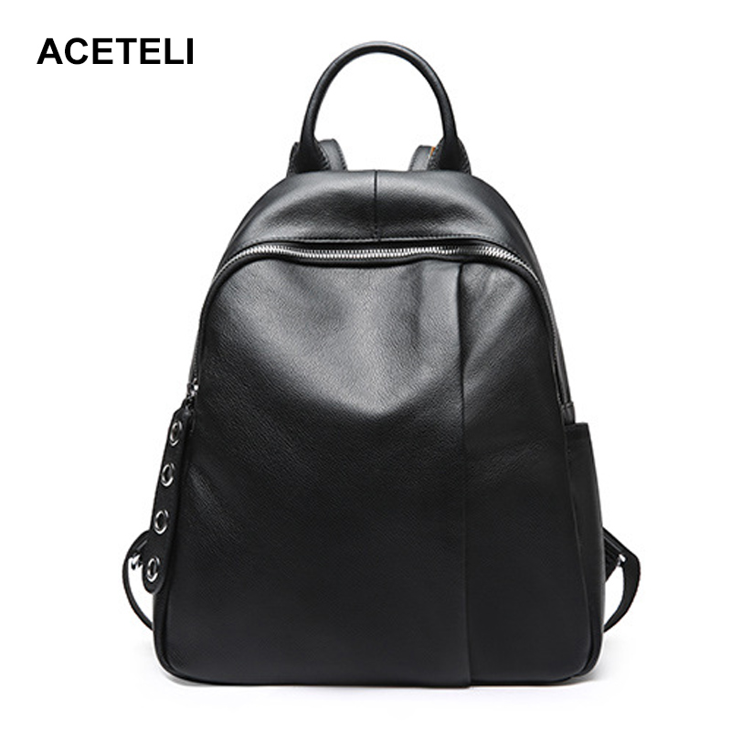Fashion Women Backpack High Quality Youth genuine Leather Backpacks for Teenage Girls Female School Shoulder Bag women genuine leather backpack school bags for girls high quality fashion korean backpacks student bookbag free shipping