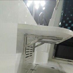 2 قطعة سطح السفينة شاشة بكتيفة للطاولات الحائط طاولة قابلة للطي الرف دعم قوس الفولاذ المقاوم للصدأ البحرية