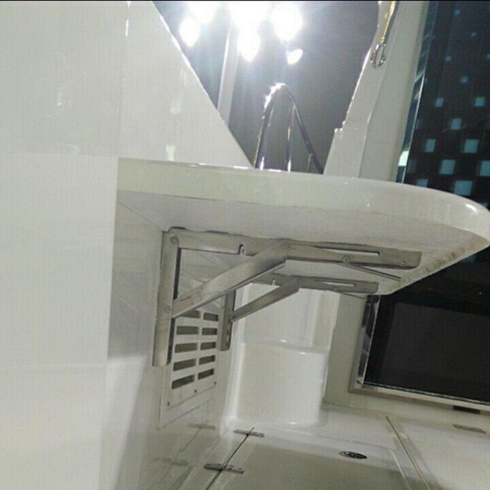 Tavolo Ribaltabile A Parete us $12.3 40% off|2pcs deck table bracket wall mounted folding table shelf  support bracket marine stainless steel|marine stainless steel|marine