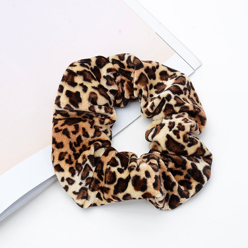 1pc Leopard Women Hair Accesorios Ladies Hair Tie Striped Lady Scrunchies Ponytail Hair Female Girl Holder Rope(China)