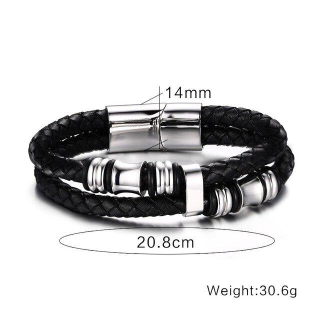 2020 модный мужской браслет черные ювелирные изделия из искусственной