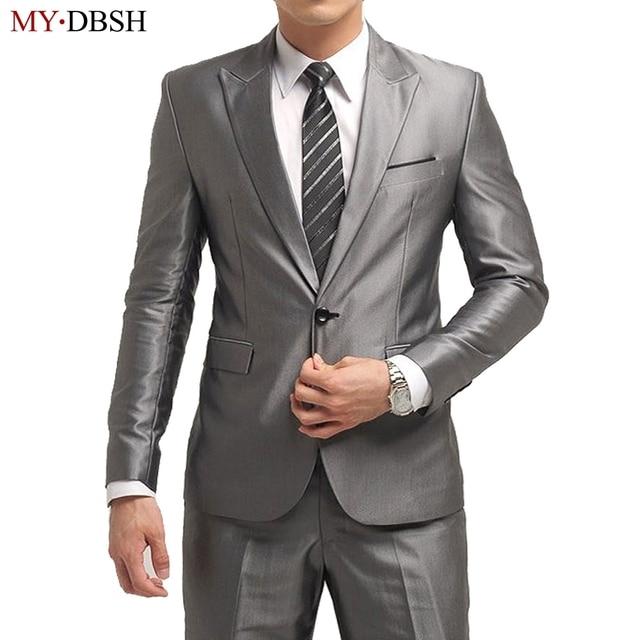900b0cde13 Fashion Men Suit 2019 Slim Fit Mens Suits Latest Coat Pant Design Wedding  Party Blazer Groom Tuxedos Costume Homme JACKET+PANTS