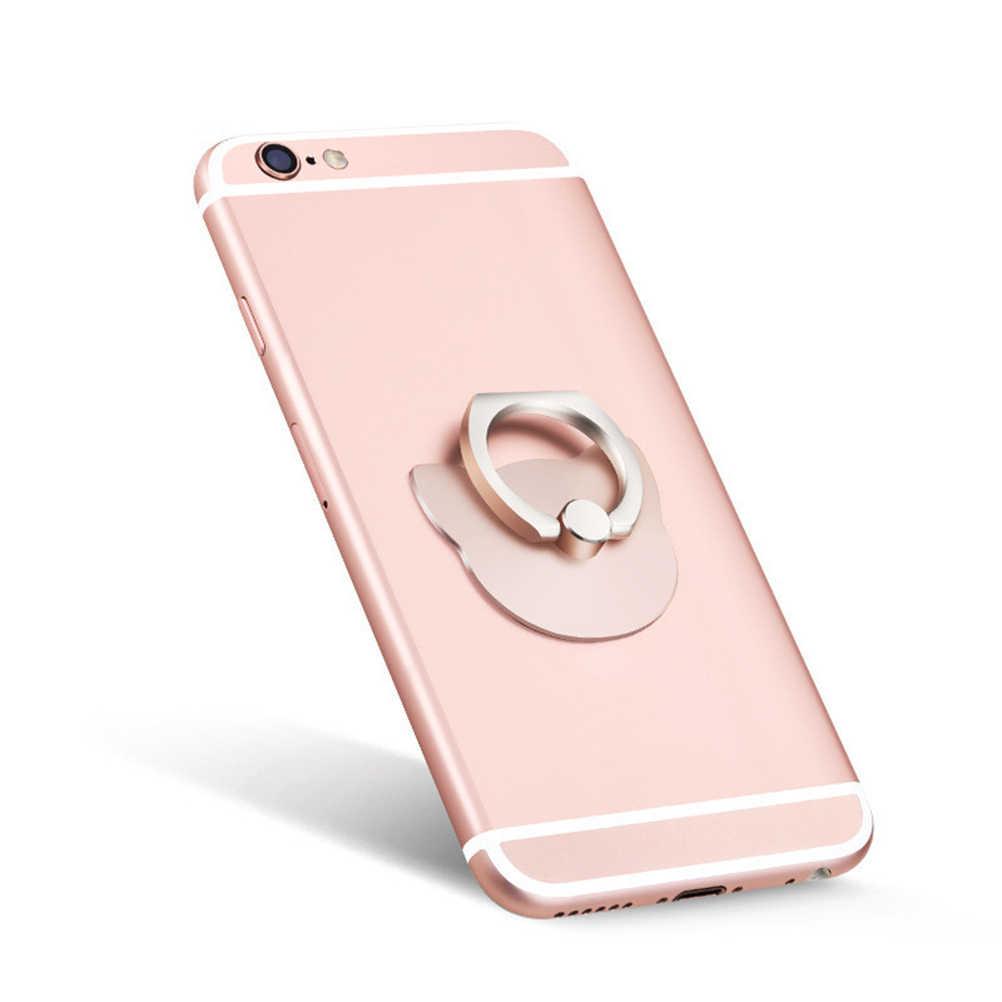 Phổ Kim Loại Gương Kim Loại Cầm Tay Đứng Chủ Bàn Xe Cho Samsung iPhone 6 s cộng với/7 Ngón Tay Nhẫn Mobile Điện Thoại di động