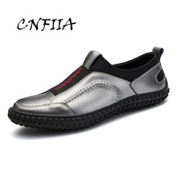 cb893934f7 CNFIIA Leather Shoes Men Casual Shoes Black Loafers Male Designer Brand Shoes  2018 Autumn New Flat. US  53.27 US  29.30. Sapatos De Couro Homens ...