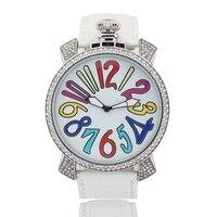 Hot watch big numbers ladies watch fashion quartz watch unisex big dial 48mm leather analog wristwatch