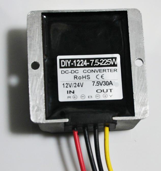 12V24V(11V 40V) Step Down 7.5V 30A 225W DC DC Converter Buck Module Car Power Converter Adapter Voltage Regulator Waterproof